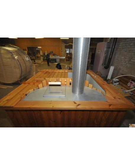 Deckel aus Edelstahl für Innen Ofen
