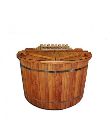 Badetonne aus Eiche mit Kunststoffeinsatz