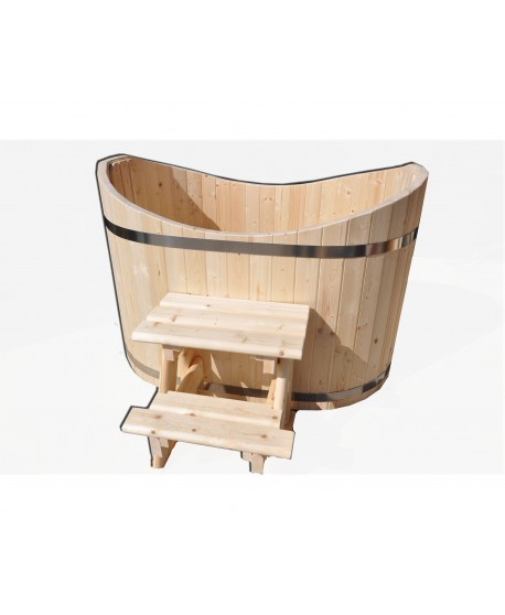 Badezuber Oval aus Holz