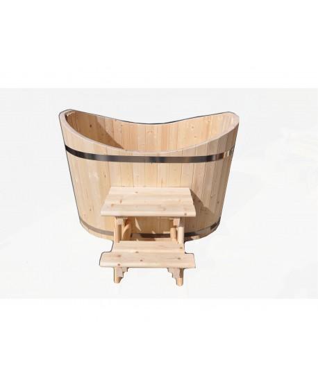 Badetonne Oval aus Holz