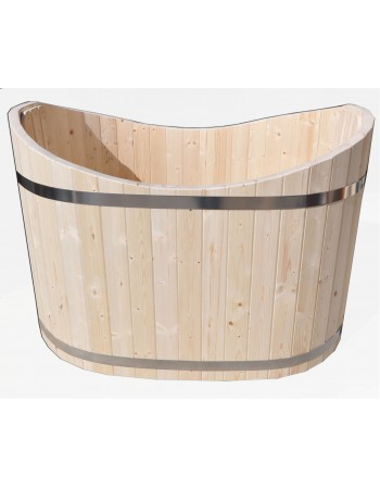 Badebottich Oval aus Holz