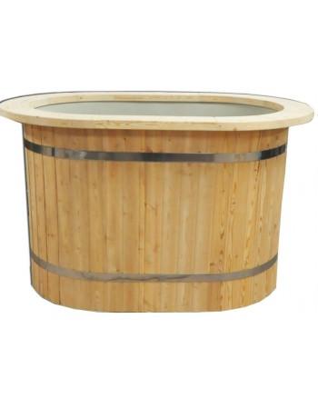 Wanne Oval mit Kunststoffeinsatz