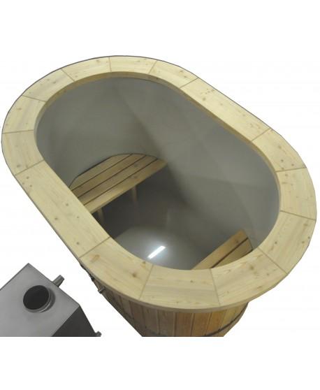 Badezuber Oval mit Kunststoffeinsatz