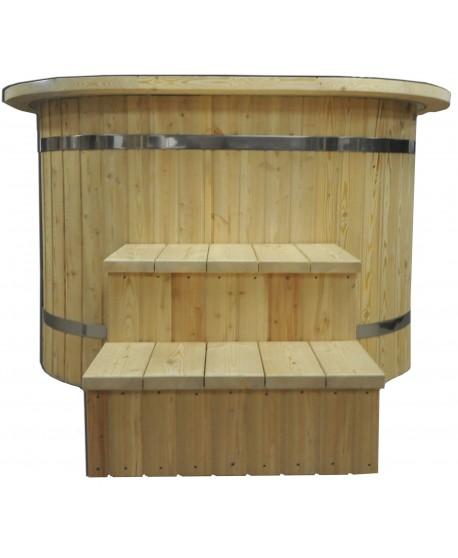 Ofuro Wanne Oval mit Kunststoffeinsatz
