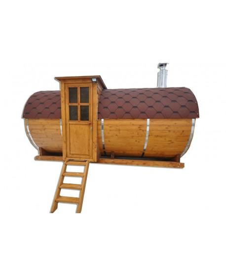 Hölzerne Sauna für Garten