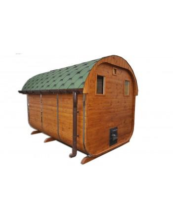 Sauna (ovales Dach)