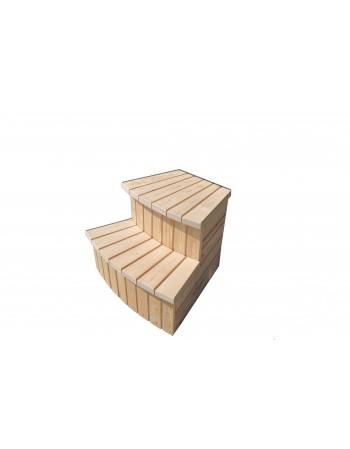Treppe für Badetonne