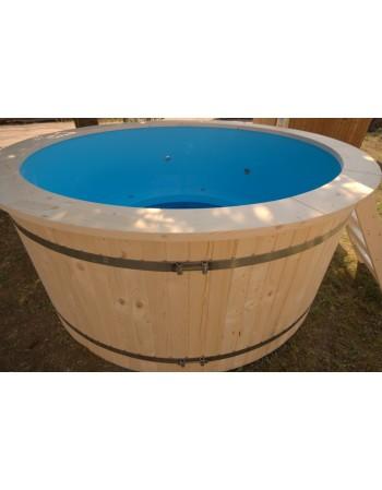 Badezuber Kunststoff mit Aussenofen
