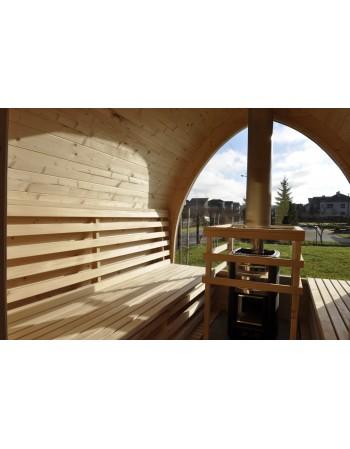 Außensauna für Garten mit Panoramafenster