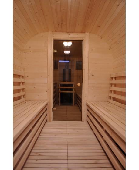 Hölzerne Sauna