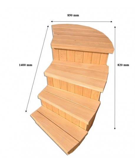 Treppe für Badefass