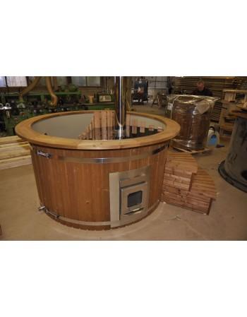 180 cm Kunststoff Thermoholz Badetonne