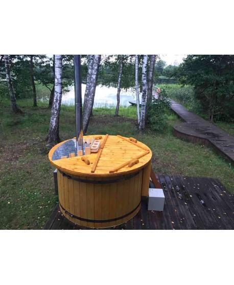 Badezuber mit integriertem Ofen