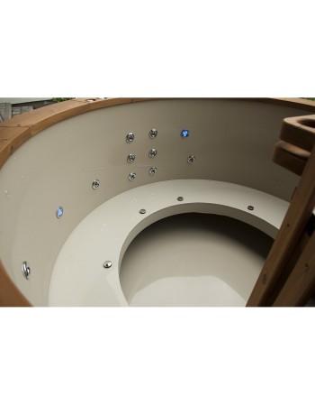 Sitzbänke von Badebottich aus Kunststoff (offene Bauart)