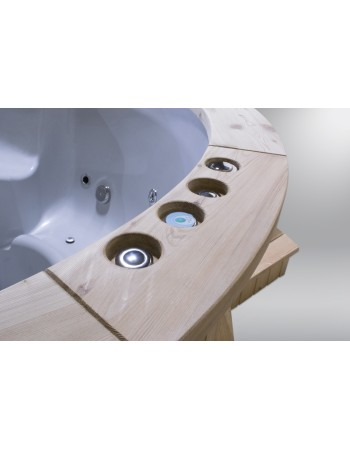 Badetonne mit Fiberglaseinsatz mit Elektroofen 1,8 m