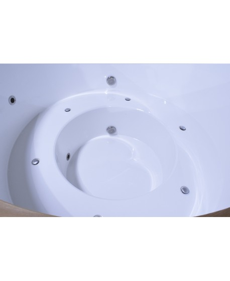 Hot tub Thermoholz mit Aussenofen 160cm