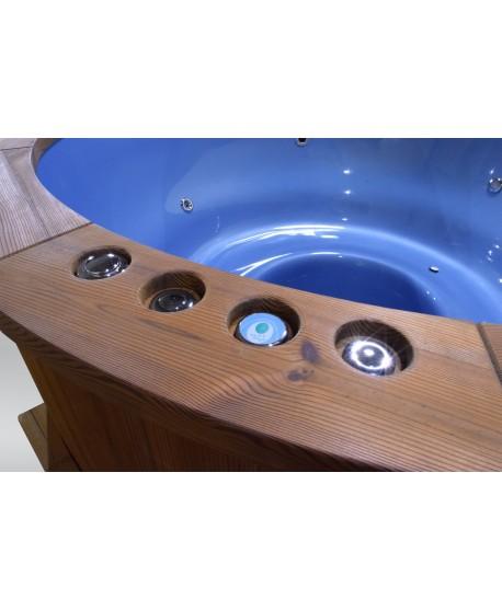 Exklusive Badetonne GFK blaue Farbe 182cm