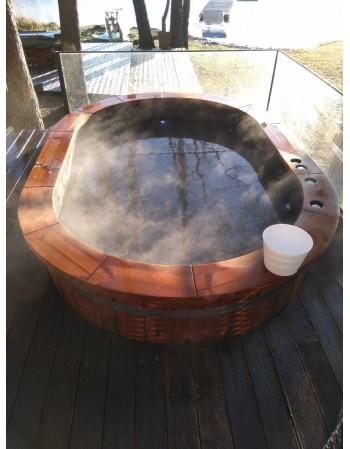 Badezuber Oval mit Holzofen