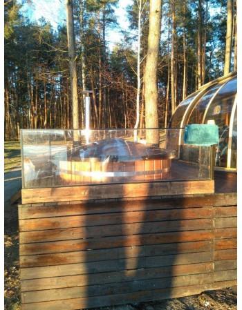 Ofuro Oval mit Holzofen