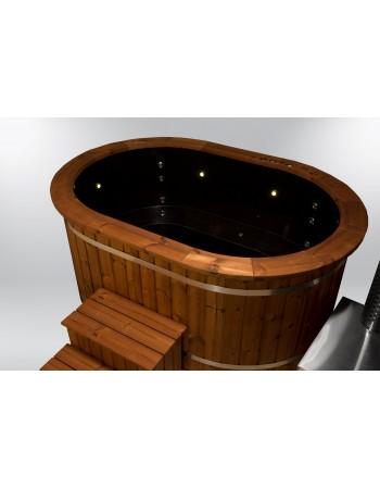 Badetonne Oval mit Massagen