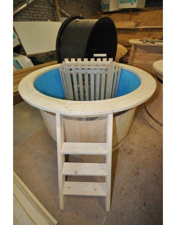 mėlyno plastiko eglinis kubilas 160 cm