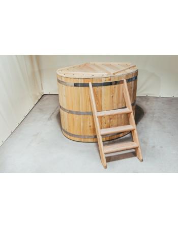 Hölzerne Badewanne Oval für 2 Personen