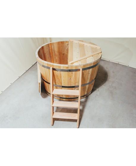 Hölzerne Badetonne Oval für 2 Personen