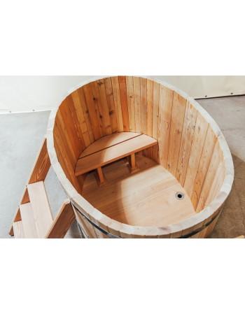 Hölzerne Badebottich Oval für 2 Personen