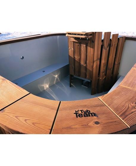 Party hot tub mit leistungsstarkem integriertem Herd!