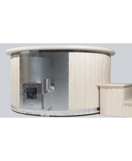 Integriertem Holzofen Badezuber