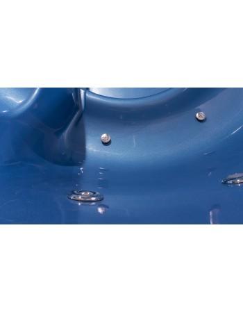 Fiberglas Badetonne Modell in blauer Perlmuttfarbe!