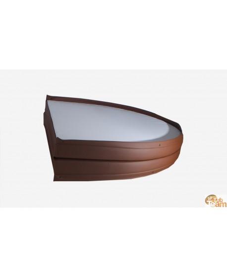 Leder Deckel für Badezuber