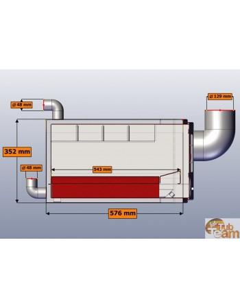 Integrierter Ofen Badebottich KJL Np-03