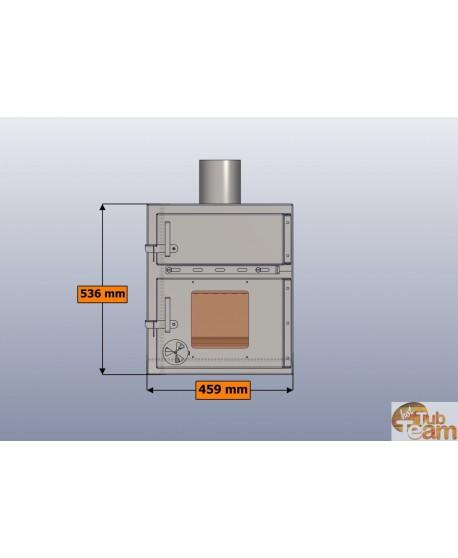 Integrierter Ofen für Badezuber aus Kunststoff KKI Np-01