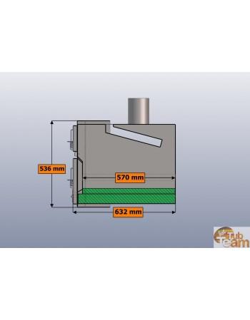 Integrierter Ofen für Hot Pott aus Kunststoff KKI Np-01