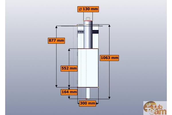 Innerer Aluminium Ofen Für Badebottich KL Al-60