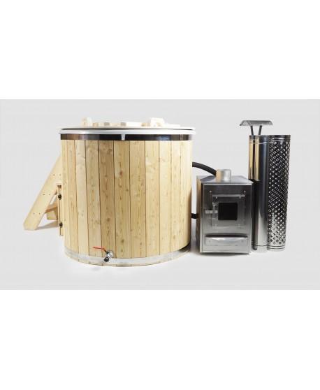 Badetonne Oval mit Holzofen