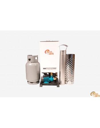 Gasheizung für Badetonne