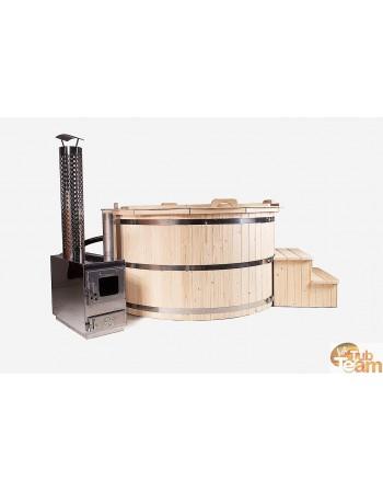 Holz-Whirlpool aus Fichte